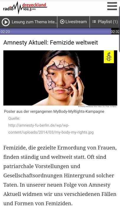 AmnestyRadiosendungScreenshot